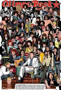 Cool rock star art piece - Who is your favorite artist? Rock Posters, Band Posters, Concert Posters, Rock Chic, Glam Rock, Rock And Roll Bands, Rock N Roll, Rock Artists, Music Artists
