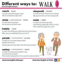 Different ways to: WALK 3