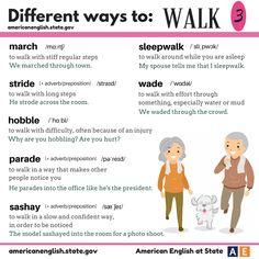 Different ways to: WALK 3