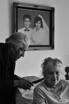 Years  Tenderness  How cute, he is braiding her hair. Notice the portrait in the background!