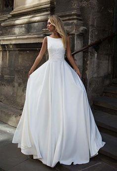 Modern Wedding Dress #weddingmakeup