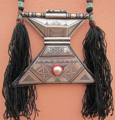 RARE Tuareg Amulet Khomeissa, Leather Cords, Silver, Copper More Info: https://www.etsy.com/listing/209233661/tuareg-amulet-khomeissa BY INEKE HEMMINGA