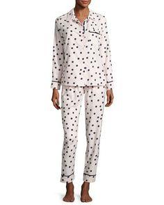 Kate+Spade+New+York+Dot+Print+Flannel+Pajamas+Set+Pink+Shadow+|+Underwear,+Pants+and+Clothing