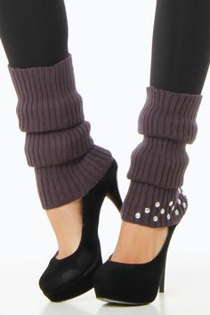 Excite Didi Leg Warmers In Charcoal - Beyond the Rack