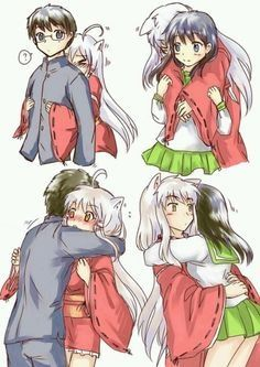 Inuyasha and Kagome genderswappped. This is actually really good, and Inuyasha is adorable Inuyasha And Sesshomaru, Kagome And Inuyasha, Kagome Higurashi, Inuyasha Funny, Fanarts Anime, Manga Anime, Gender Swap, Anime Kawaii, Cute Anime Couples