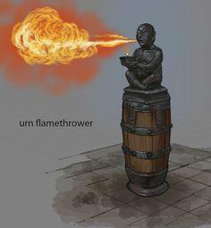 Flamethrower Urn
