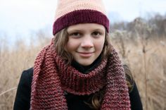 Purple red ombre hand knit fashion scarf by baldyhillhomemade, $35.00