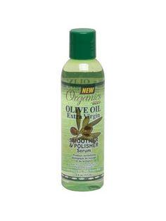 Le sérum de lissage et brillance  Organics Olive Oil permet d'avoir des cheveux extrêmement doux, lisse et soyeux. Ce soin de brillance Organics est tonifié grâce à ses propriétés réparatrices à l'huile d'olive, créé  pour une hydratation instantanée et un rafermissement des cheveux secs. La formule brillance Organics Olive Oil est légère, non-grasse, et n'aloudit pas les cheveux. Pour un usage quotidien, ce dernier sérum de lissage et brillance de la gamme   Organics Olive Oil est conçu… Olives, Olive Oil, Braided Hairstyles, Shampoo, Personal Care, Bio, Braids, Relaxed Hair, Dry Hair