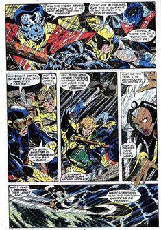 X-men - John Byrne art Make A Comic Book, Comic Book Pages, Comic Book Artists, Comic Book Covers, Comic Artist, Marvel Comic Character, Marvel Comic Books, Marvel Characters, Comic Books Art