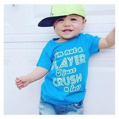 Hey girl, I'm not a player, I just crush a lot! 🙌🏻 We still have a few of these in the shop and are going to restock shortly, have you snagged yours yet? ❤️😍 • • • • • • #cutekidsclub #igfashion #kidzootd #instagram_kids #trendykiddies #babiesofinstagram #kidzfashion #kidslookbook #kids_stylezz #thechildrenoftheworld #igkiddies #flylittleguy #kidsfashion #toddlerfashion #harrypotter #quidditch #mischief #potterhead #harrypotterforever #hogwarts #imnotaplayerijustcrushalot