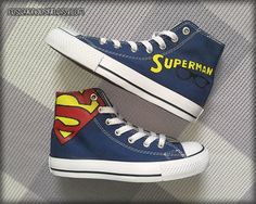 Hey, I found this really awesome Etsy listing at https://www.etsy.com/listing/199142440/superman-painted-shoes-custom-converse