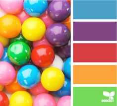 gumball brights--cute color ideas for a shower.