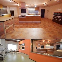 a newly renovated kitchen with complete utensils