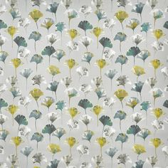Camarillo in Chartreuse by Prestigious Textiles | Curtain Fabric Store Floral Fabric, Blue Fabric, Prestigious Textiles, Made To Measure Curtains, Fabric Suppliers, Tropical Style, Placemat Sets, Cotton Pillow, Cotton Fabric