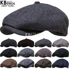 Men's Cabbie Newsboy and Ascot Plaid Ivy Hat (Various Styles , Colors)