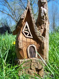 CottonWood Gnome Home by ChipsNKnotsCreations   $95