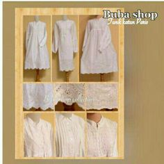 Tunik putih katun paris