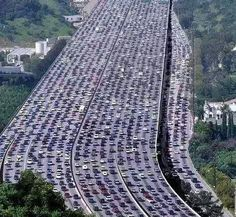 The longest traffic jam in the world was created in China, about 62 miles.  Photo:  ツ Amazing Facts & Nature ツ