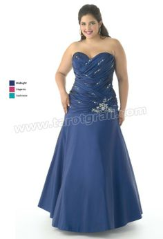 A-Line Strapless Sweetheart Full Length Satin Prom Dress With Sequinsand Drapes