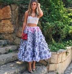 Saudi designer Razan  Fashion  Fashionista  Skirt  Look  Style  embroidery Chanel  Street style