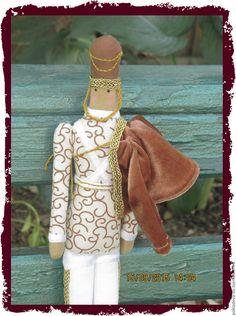 Купить Кукла в стиле Тильда Стойкий оловянный солдадик - коричневый, кукла ручной работы, кукла