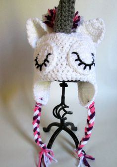 Baby Crochet Unicorn Hat Made to Order by ElleYarnCreations, $18.00
