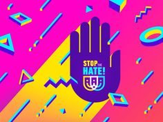"Stop The Hate / Доста Омраза (Macedonian) / Mjaft Urrejtjes (Albanian) is pro bono logo and branding project for non government organisation.   The theme of the project is:   ""Youth against the polit..."