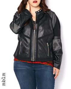 This jacket was designed to deliver edge to any daytime or nighttime look! Features mesh inserts, metal hardware and a front-zipper closure.