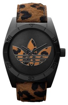 adidas Originals 'Santiago' Animal Print Watch - kind of cool