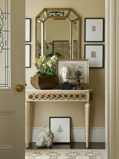 narrow and high profile console table | Mirror The console table. With a narrow and high profile, this piece ...