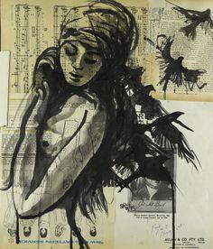 """Saatchi Online Artist: Sara Riches; Ink 2013 Drawing """"Take Flight"""" #art"""