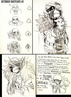 October Sketch #3 GZTALE by GolzyBlazey.deviantart.com on @DeviantArt