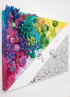 Desertification v. 2.0, sculptural painting, Stephanie Kilgast