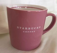 Starbucks Coffee Mug 2004 Pink Dusty Rose and Cream Colored Large Cup Collectors #Starbucks