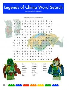 Legends of Chima Word Search