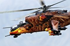 Anything With A Lift Vector — Badass paint jobs! Attack Helicopter, Military Helicopter, Military Aircraft, Fighter Aircraft, Fighter Jets, Mi 24 Hind, Eagle Painting, Screaming Eagle, Aircraft Painting