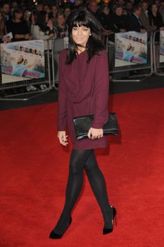 Claudia Winkleman Pantyhose Outfits, In Pantyhose, Claudia Winkleman, Cozy Fashion, Women's Fashion, Thing 1, Opaque Tights, Jenna Coleman, Tv Presenters