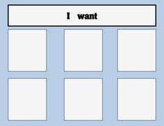 A visual support choice board for an Autism Classroom or Special Education Classroom. #autism