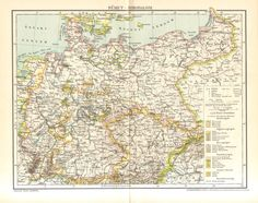 1896 Map of the German Empire by CabinetOfTreasures on Etsy