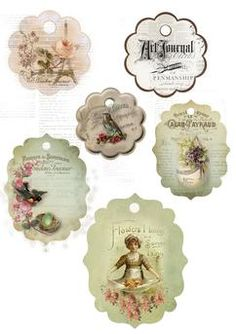 Decoupage my trunk: Some vintage jewelry. Vintage Tags, Vintage Labels, Vintage Ephemera, Vintage Paper, Decoupage Vintage, Printable Tags, Printable Paper, Free Printables, Freebies Printable