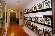 photos in a long hallway