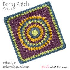 Free crochet pattern: Berry Patch Square by Pink Mambo on Oombawka Design