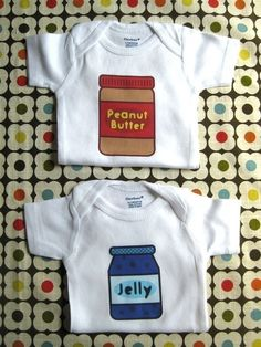 Completely adorable Twin Onesies! $16.99 on Etsy
