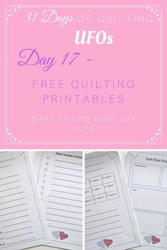 Free Quilting Printables