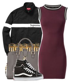 """Supreme"" by ariangrant ❤ liked on Polyvore featuring Yves Saint Laurent, Vans and 440"