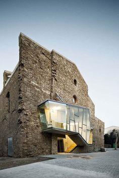 This really works. It brings a modern use and retains the character of the old building.