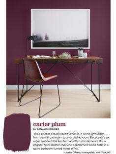 Carter Plum CW-355 is a deep, inviting shade of plum which traces its history to the 18th-century, when it was once made using umber pigments.