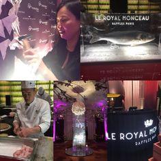The grand opening #LeRoyalMonceau #Raffles #Paris #Nobu #NobuMatsuhisa #France #launch #restaurant #chef #Japan #food #foodie #travel #hotel #event