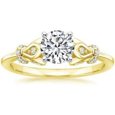 Serenade Diamond Engagement Ring - 18K Yellow Gold