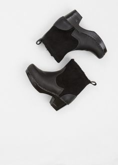 """Love this: Black Suede / Black 5"""" Shearling Boot Mid Heel @Lyst"""